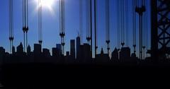 Suspended City (Lumn8tion) Tags: bridge silhouette manhattan sunny queens gothamist queensboro uploaded:by=flickrmobile flickriosapp:filter=nofilter queensborobridgepedestrianbikepath