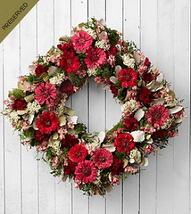 FTD Bold Impressions Dried & Preserved Zinnia Wreath (dobdeals.com) Tags: flowers wreaths eventsupplies