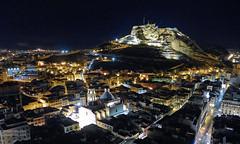 Alicante Night - EXPLORED! - Thank you (Fotomondeo) Tags: españa castle valencia night lights luces noche spain cathedral catedral alicante castillo lx7 concatedral castillodesantabarbara lumixlx7 panasoniclumixlx7