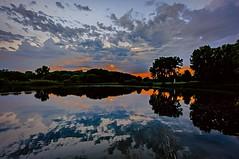 Bassett Creek Park (Doug Wallick) Tags: park sunset reflection minnesota clouds creek pond day crystal cloudy dusk bassett lightroom a55 mygearandme mygearandmepremium mygearandmebronze mygearandmesilver mygearandmegold mygearandmeplatinum mygearandmediamond