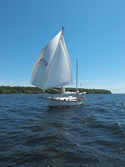 Double Wing (cjh44) Tags: ontario sailboat sailing sunday sails kingston collinsbay alliedseawind