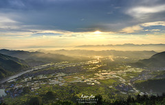 Grand View (Houmushan - Zhejiang Province) (Lao An (PhotonMix)) Tags: china above sky mountains misty clouds landscape nikon glory aerialview villages valley fields serene sunrays tranquil d800 zhejiang ricefileds photonmix elevatedpov laoanphotography houmushan shangjiawu