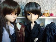 Hakamas - el costurero de Susana (Lunalila1) Tags: japan jack outfit doll handmade wig hakama yukata kimono lead horner tokio ueda arion costura quimono takito taeyang