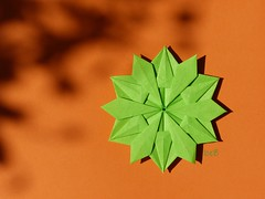 Snowflake by Dasa Severova    (hexagonal star) (esli24) Tags: origami origamistar hexagonalstar dasssa origamisnowflake origamistern dasaseverova esli24 ilsez origamischneeflocke origamihexagonalstern origamisechseckstern