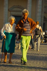 Mother and son ... (Ed Yourdon) Tags: sunlight rome cane piazzadelpopolo