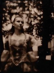 beautiful stranger 2 (NooFZz) Tags: portrait bw 9x12 photographicpaper paperpositive bulldog4x5