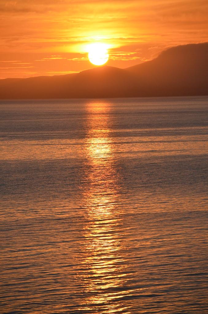 Sunset Llandanwg, Gwynedd, Wales