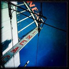 XXX Cine (bmrg) Tags: street red holland amsterdam lomo cine cables xxx lomofake hipstamatic