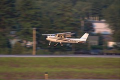 Cessna 152 N153MT (FlyingJ31) Tags: sunset sun tarmac plane airplane photography fly photo airport ramp sundown dusk aircraft sony jet picture engine craft pic piston international photograph airline alpha flap cessna airliner jetplane flaps 152 jetliner c152 c150 learntofly cessnaaircraft 150152 slta57 n153mt