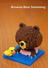Character Series - Brownie Bear (inanoblock) Tags: bear brown cute funny lego bricks steps ducky brownie instructions blocks build nanoblock ナノブロック nanoblocks