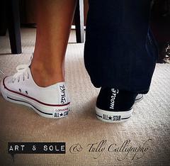 Bride & Groom customised Converse (Tully Calligraphy) Tags: wedding converse calligraphy weddingshoes customisedshoes