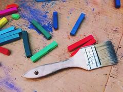 SparkCon 2013 (Dan   Hacker   Photography) Tags: streetart art chalk downtown pastel northcarolina raleigh brush tools artsupplies iphone sparkcon vscocam