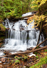 Wagner Falls in Autumn (Craig - S) Tags: statepark autumn vacation usa tourism up america creek river season waterfall midwest rocks michigan rocky tourist tourists adventure waterfalls destination americana upnorth upperpeninsula wagner lakesuperior autumncolor munising uppermichigan dnr northernmichigan algercounty michiganstateparks michiganstatepark wagnerfalls wagnerfallsscenicsite munisingmichigan wagnercreek michigandepartmentofnaturalresources annariver
