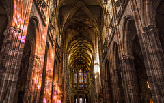 Catedral de San Vito, Praga (karinavera) Tags: city windows light shadow reflection building church photography lights photo arquitectura republic czech district capital explore vitreaux attractions nikond3200