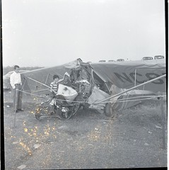 Rhodes, Donald Dusty. Robbins, Gus fatal plane crash Asheboro. April 24, 1950.6 (Iredell County Public Library) Tags: rhodes robbins