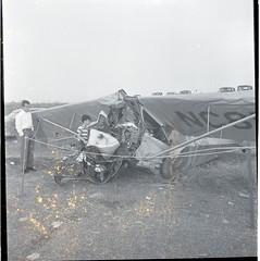 Rhodes, Donald Dusty. Robbins, Gus fatal plane crash Asheboro. April 24, 1950.6 (Iredell County Public Library) Tags: rhodes robbins