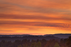 Fire Sunset (dhc_photos) Tags: sunset sky santacruz sun mountains cloudy vista