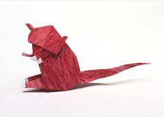 Origami création - Didier Boursin - Panthère rose