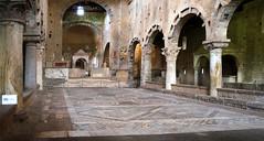 Inside S. Pietro (Patrick Costello) Tags: italy church architecture interior columns arches romanesque tuscania lazio vierbo chiesadispietro cosmatifloor