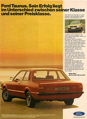 Ford Taunus Werbung / Advertising (Bernd Tuchen) Tags: ford werbung taunus advertisment