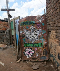 I See You (Mr Baggins) Tags: streetart graffiti stencilart soweto kliptown ladyaiko