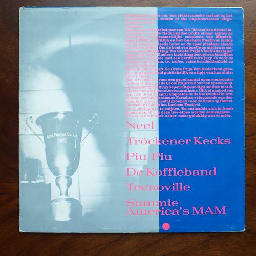 Backside De Grote Prijs van Nederland 1984 - Piu Piu, De Koffieband, Tecnoville, Neel, Trockener Kecks, Sammie America's MAM