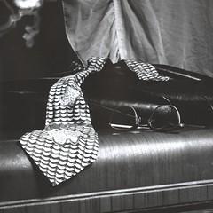 350  -  Nice Tie (Brad Renken) Tags: blackandwhite stilllife film nebraska tie ne neb paintingwithlight 13 bertrand ilford necktie panf rolleicord nebr microdol adorama bwfp