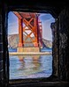 San Francisco,CA, Fort Point Window (HDR),  2014 (Barking Dog Photos_Bruce Gregory) Tags: sf fortpoint ggbridge ftpoint hdrfusionnatural