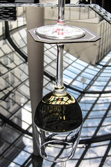 Upside Down (Jocey K) Tags: newzealand glass lines architecture wine placemat nz tables christchuch cathedraljunction