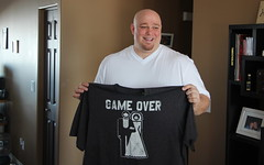 The day after (ricmcarthur) Tags: wedding married heather steve tshirt gameover heatherandsteve