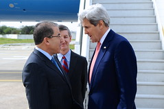 Tunisian Foreign Minister Hamdi Greets Secretary Kerry Upon Arrival in Tunis (U.S. Department of State) Tags: tunisia johnkerry mongihamdi