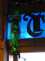 Trinity Leeds - the Briggate Minerva (stillunusual) Tags: uk england sculpture art statue night dark evening yorkshire leeds streetphotography trinity owl publicart minerva briggate 2014 andyscott trinityshoppingcentre trinityleeds briggateminerva