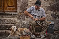 Neoneli - Sardinia (Donatella Altea) Tags: sardegna people dog work sardinia streetphotography reportage neoneli