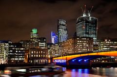 The London Bridge & La City (nic( o )) Tags: city uk bridge england building london skyline night skyscraper buildings la unitedkingdom londres pont angleterre blackfriars nuit ville immeuble citynight gratteciel immeubles villenuit