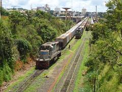16520 BB40-2 #8146 aguardando para entrar na Linha 2. Uberlndia MG      (2) (Johannes J. Smit) Tags: brasil vale trens vli