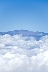 Reach for the Stars (ChrisElliottArt) Tags: above sky mountain clouds island volcano hawaii big high tour helicopter observatory telescope hawaiian tropical hilo mauna kea kona keck dormant
