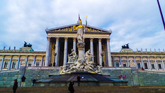Austrian Parliament (naveeshini_nair) Tags: vienna morning travel austria democracy europe inspired parliament backpacking eastern zappeion ringstrabe