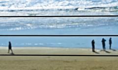 Ringo Starr (Ian Sane) Tags: ocean camera blur beach oregon canon lens ian eos is wire pacific images 7d cannon barrier usm ringo starr ynot sane ef100400mm f4556l blurism
