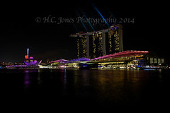 Singapore iLight Festival 2014 (hcjonesphotography) Tags: show city travel light sunset sky tourism water fountain festival night marina plane buildings reflections dark lights bay march boat flyer singapore asia skyscrapers tourist casino lasers laser fountains sands rc radiocontrol merlion clarkequay 2014 marinabay hcjonesphotography