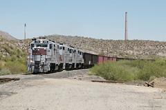 Copper Basin GP9s (The Industrial Railfan) Tags: railroad arizona train branch railway az basin copper hayden 203 208 geep gp9 shortline branchline cbry