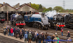 IMG-5092 Didcot Railway Centre - Once In A Blue Moon - April 2014 (GRAHAM CHRIMES) Tags: blue moon king centre railway class april once a1 sir a4 tornado nigel didcot gwr 2014 in 6007 lner gresley 6023 a kingedwardii 60163