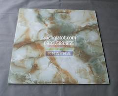 Gạch bóng kiếng vi tinh cẩm thạch xanh hỗn hợp (80x80)