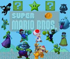 Fond d'cran mario (drouet.nicolas) Tags: browser peach donkey mario toad piece monde bros luigi
