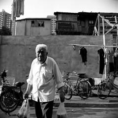 Nameless (Spontaneousnap) Tags: china street city blackandwhite bw film asia shanghai candid candidstreetphotography spontaneousnap