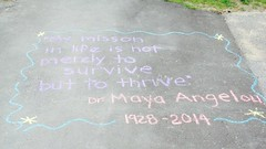 Maya Angelou in Chalk 1 (m.gifford) Tags: chalk quote mission westboro survive 2014 thrive mayaangelou mymissioninlifeisnotmerelytosurvivebuttothrive