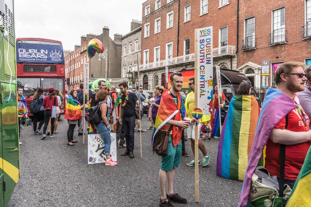 DUBLIN 2015 LGBTQ PRIDE FESTIVAL [PREPARING FOR THE PARADE] REF-106219