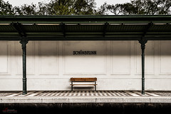 Schnbrunn Station (_Hadock_) Tags: wallpaper station train bench de tren one mood alone sitting sad creative banco commons screen full solo estacion lonely hd soledad fondo pantalla schonbrunn saver walpaper fullhd comons