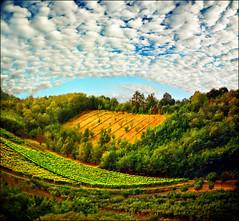 Sky arc (Katarina 2353) Tags: sky landscape valley fields serbiainspired