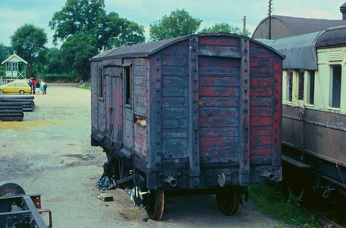 Ex-LB&SCR wooden van at Tenterden Town, K&ESR, in 1979