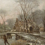 CAPPELLE Jan (van de),1653 - Paysage d'Hiver avec des Joueurs de Kolf (Custodia) - Detail 20 thumbnail